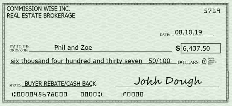 buyer rebate cheque